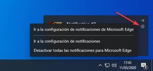 Novedades notificaciones Windows 10