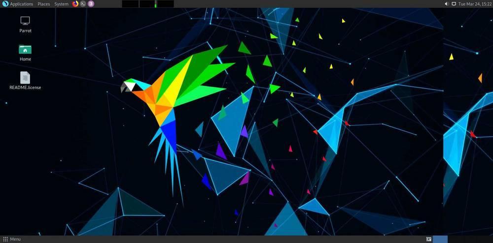 Parrot OS - Captura 1