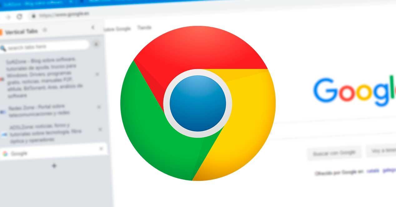 Pestañas verticales Chrome