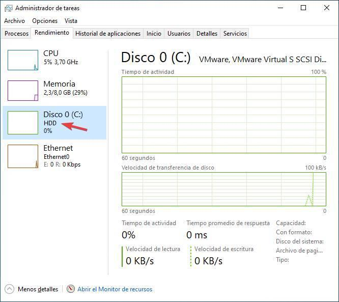 Tipo HDD SSD Windows 10