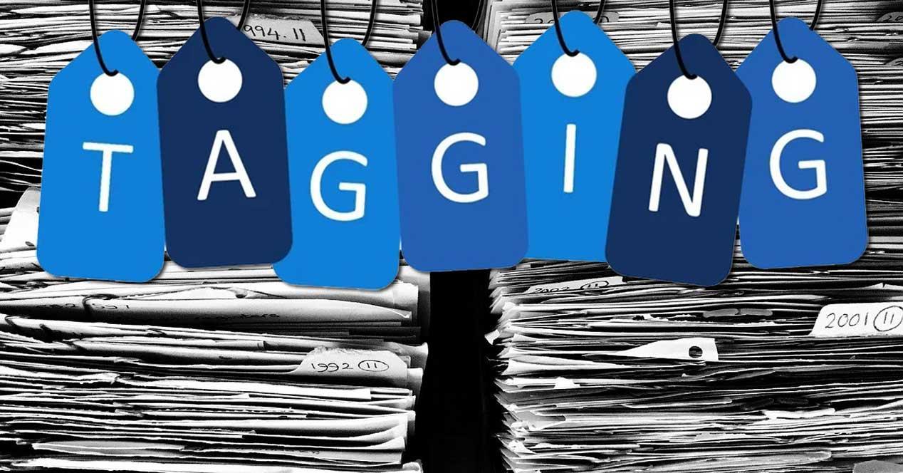etiquetas para organizar archivos