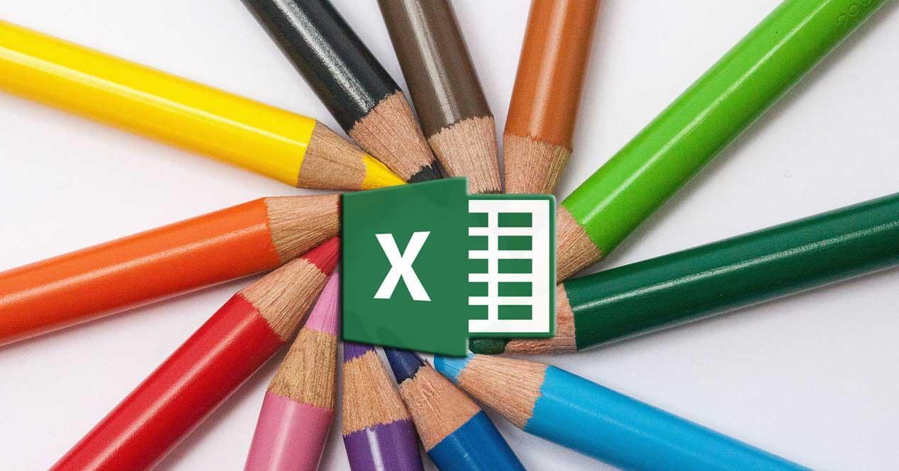 Excel colores imágenes