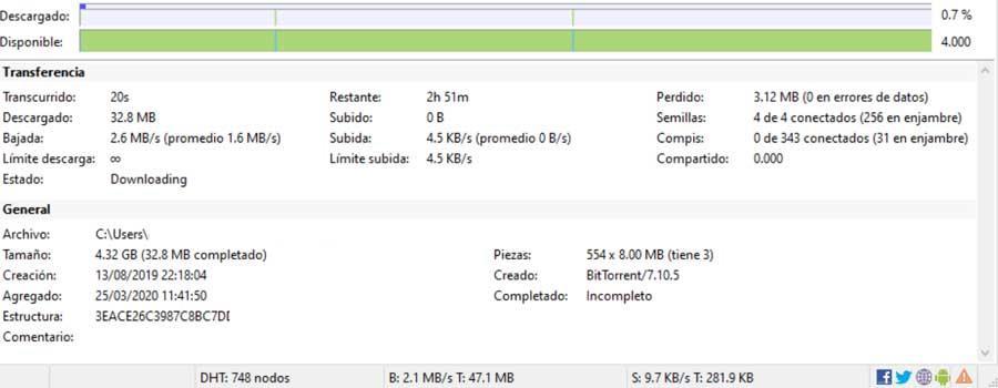 informacion descarga utorrent