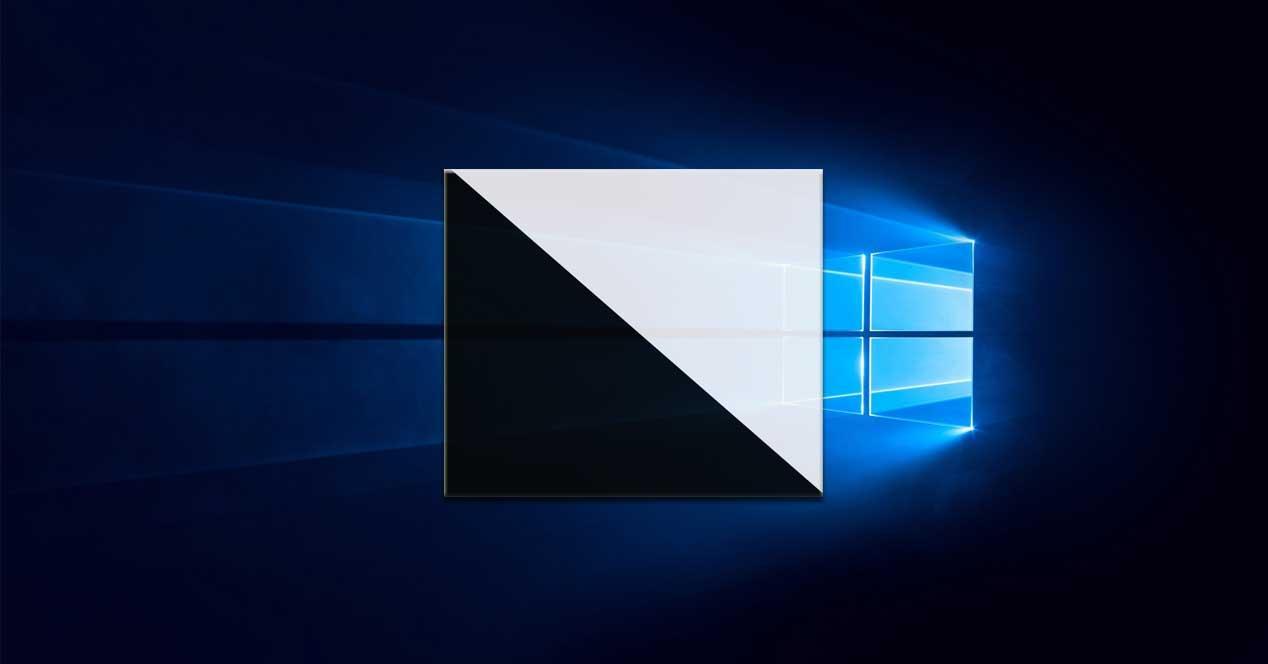 Modo luz oscuro Windows