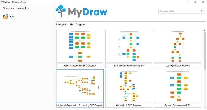 Апартадо EPC Diagram de MyDraw