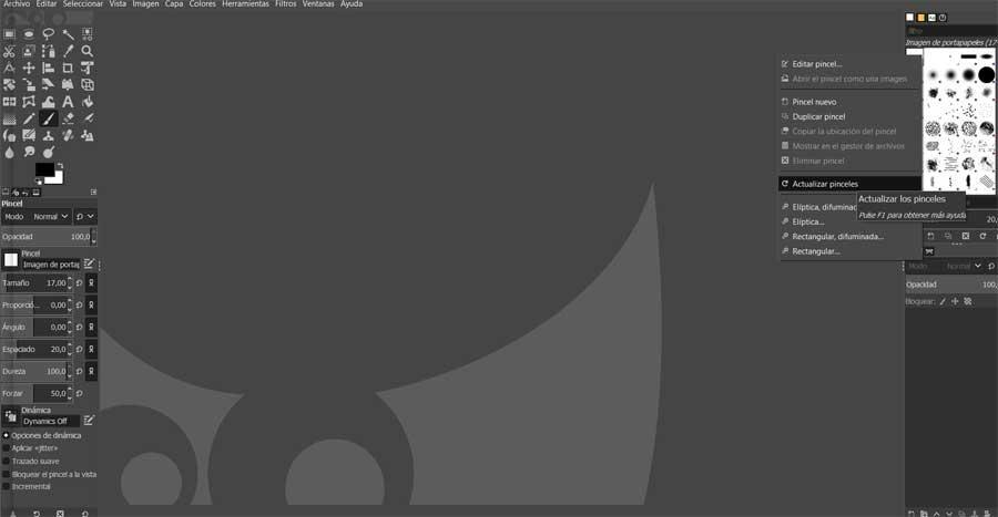 Pinceles GIMP