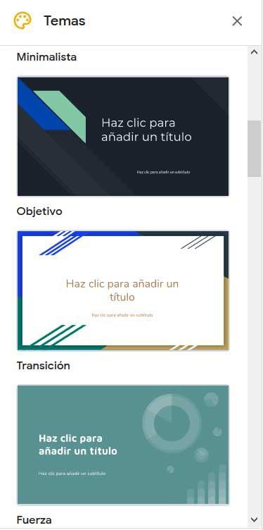 Équipes Google Presentaciones