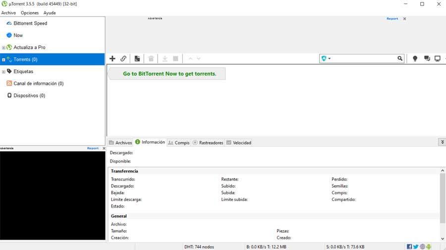 utorrent interfaz principal