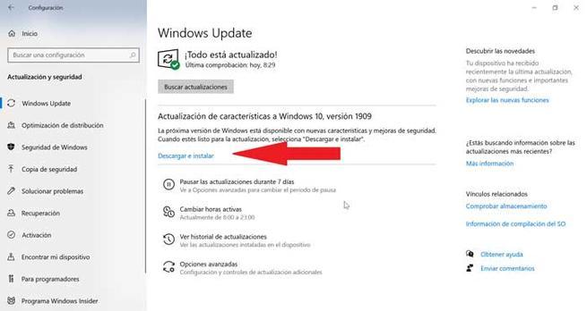 Actualizați Windows