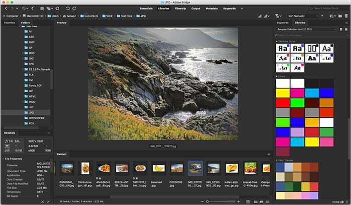 Adobe Bridge organiseert foto's