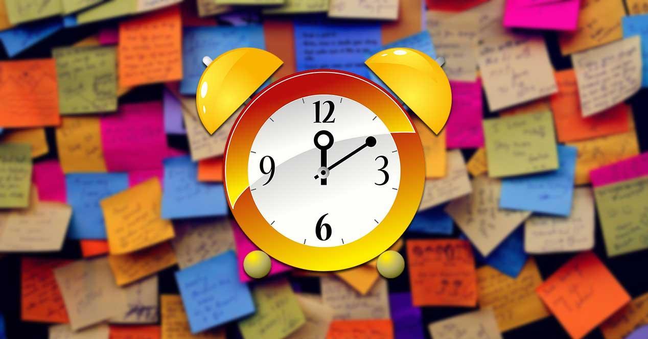 Alarm Stickies notas con alarma