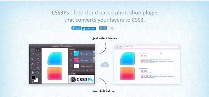 CSS3Ps plugin para Photoshop