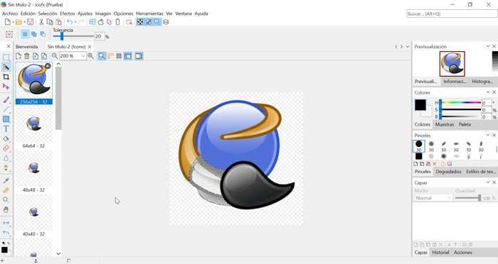 Editando icono con IcoFX