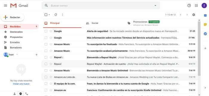 Gmail, cliente de correo electrónico