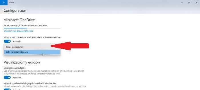 Mostrar todas las carpetas de OneDrive ve aplikaci Fotos