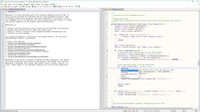 Notepad ++ редактор текстовых сообщений