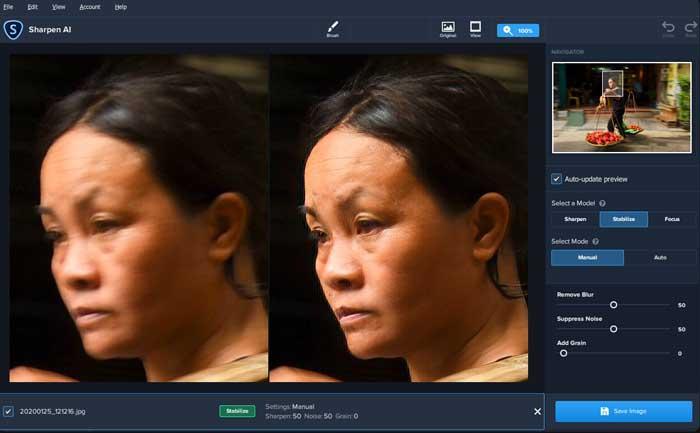 Topaz Sharpen AI plugin para Photoshop