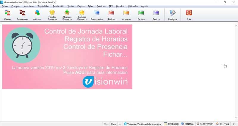 VisionWin programa de contabilidad