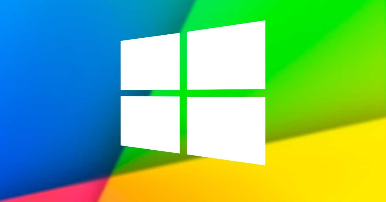 Windows 10 fondo con logo blanco