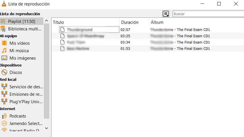 Listas reproducción VLC