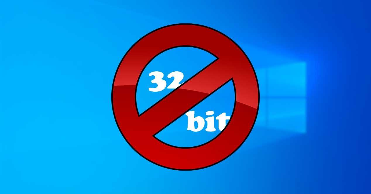 Bloquear 32 Bit en Windows 10