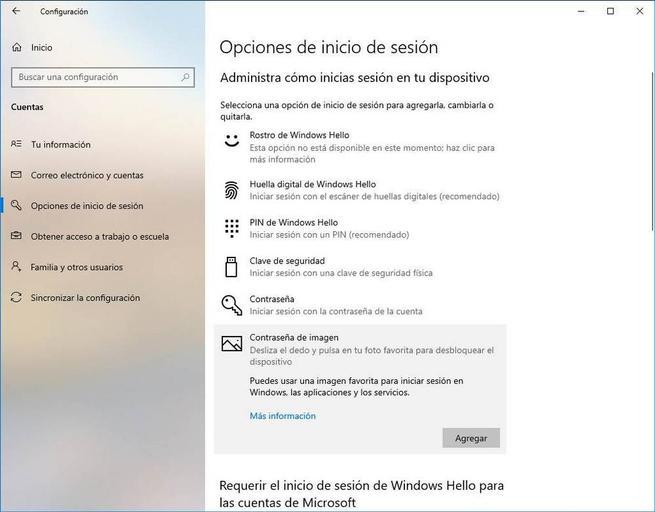 Configurar Windows Hello - Contraseña de imagen 1