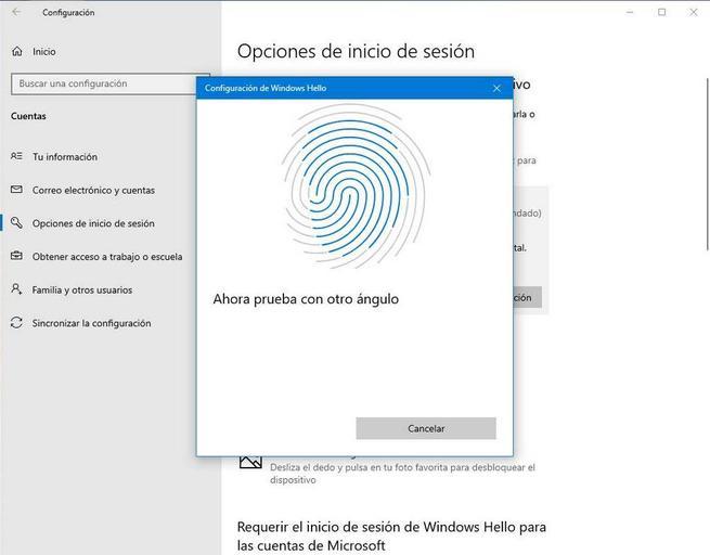 Configurar Windows Hello - Huella 4