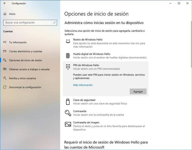 Configurar Windows Hello - PIN 1