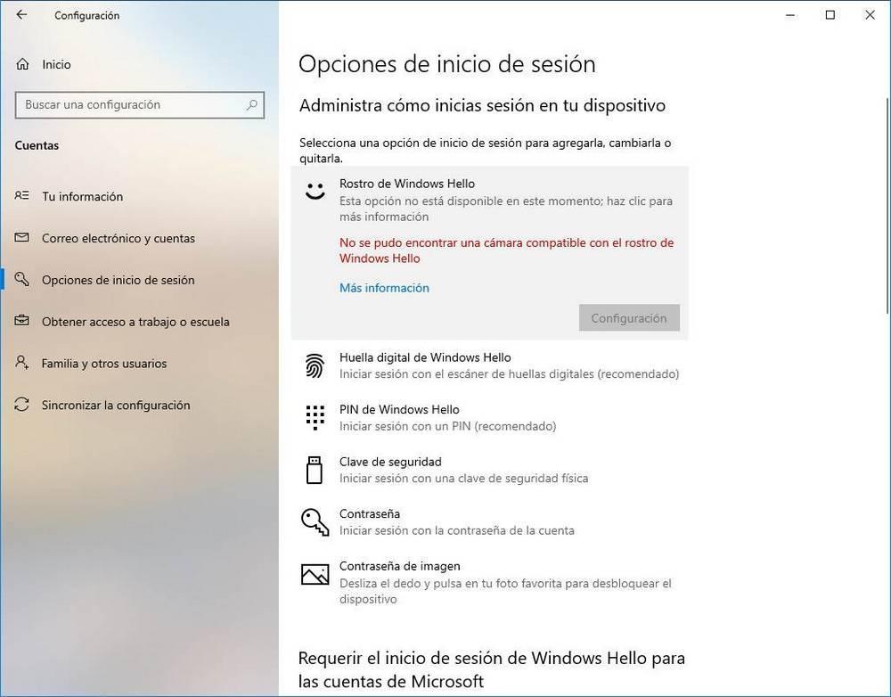Configurar Windows Hello - Webcam 1