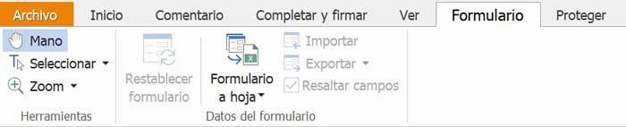 Foxit Reader, формы