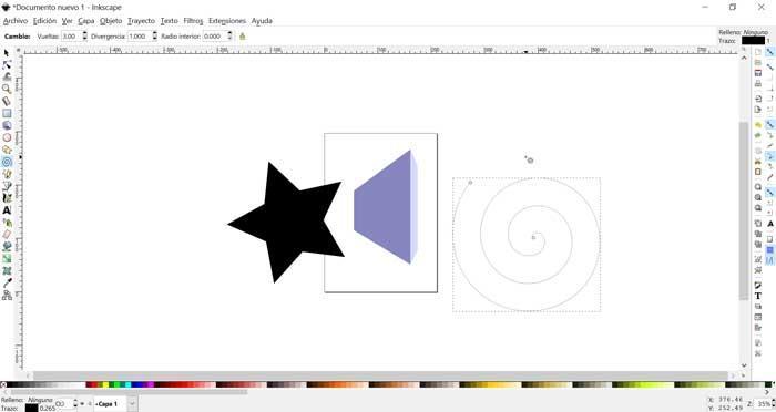 InkScape añadiendo figuras