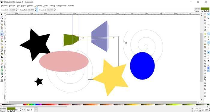 InkScape, figuras sobreexpuestas