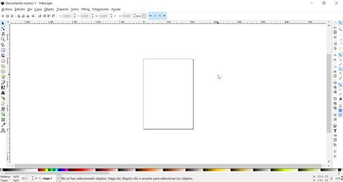 InkScape, menú principal