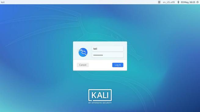 Kali Linux 2020.2 - Плазменный вход Light