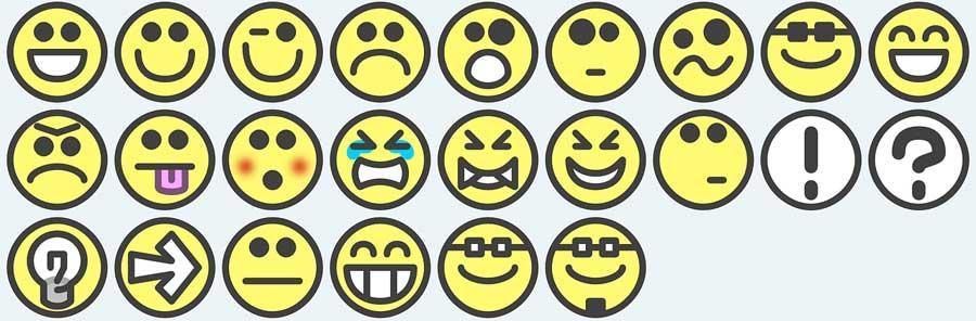 Muestras emoticonos
