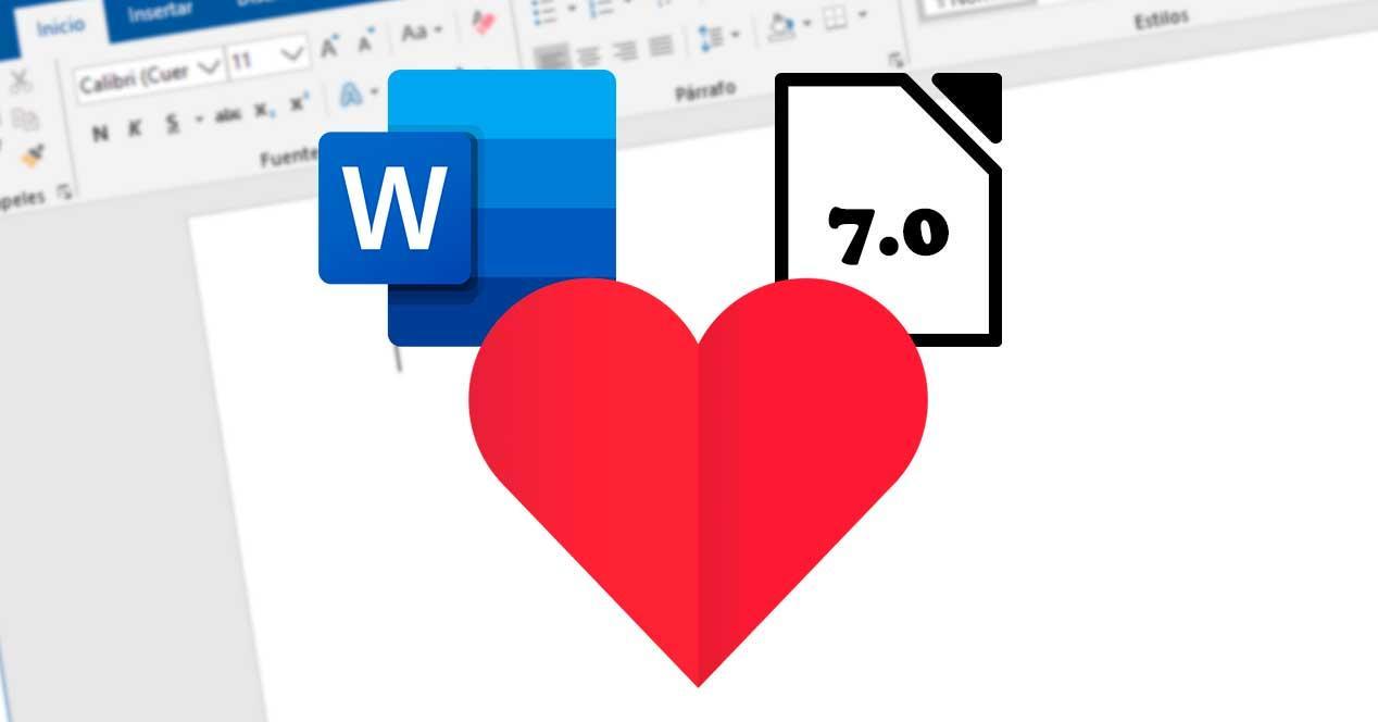 Soporte LibreOffice 7.0 Word