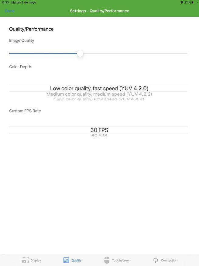 SpaceDesk iOS - Configuración 2