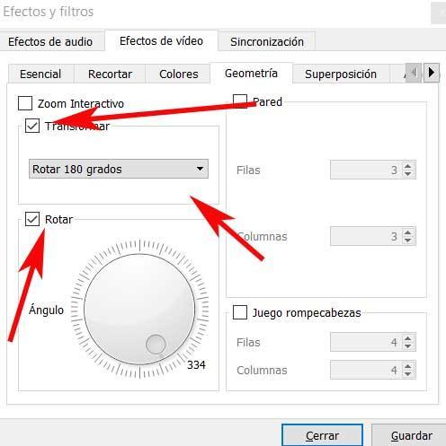 Transformar y rotar VLC