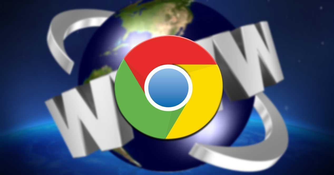 Webs Chrome barra de tareas