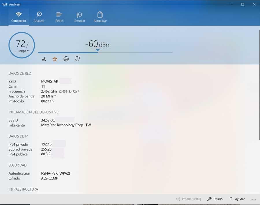 Wifi analizer