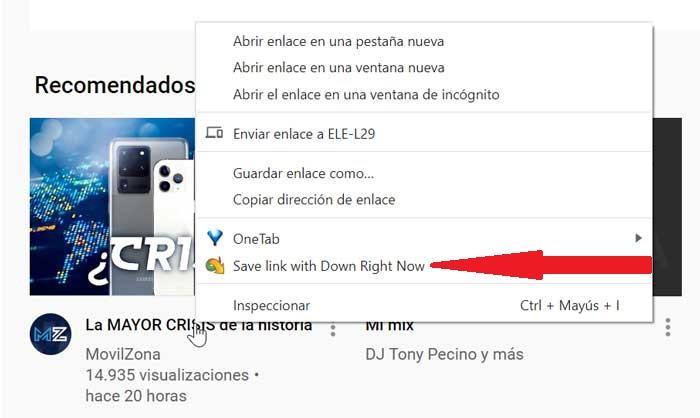 DownZemAll, скачать ссылку на Chrome