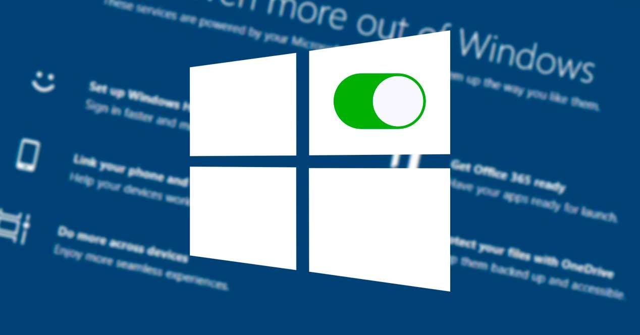 Activar desactivar pantalla características Windows