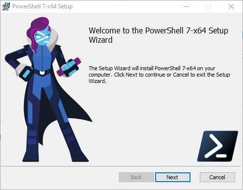 Asistente instalar PowerShell