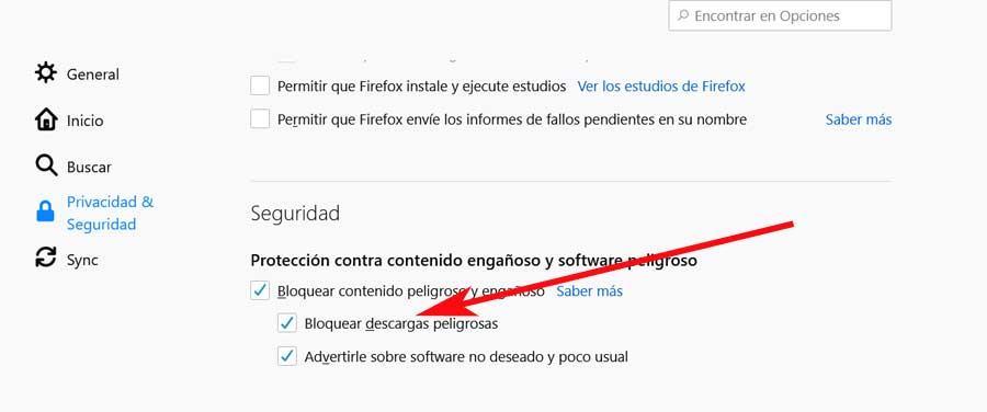 Desbloquear Firefox descargas