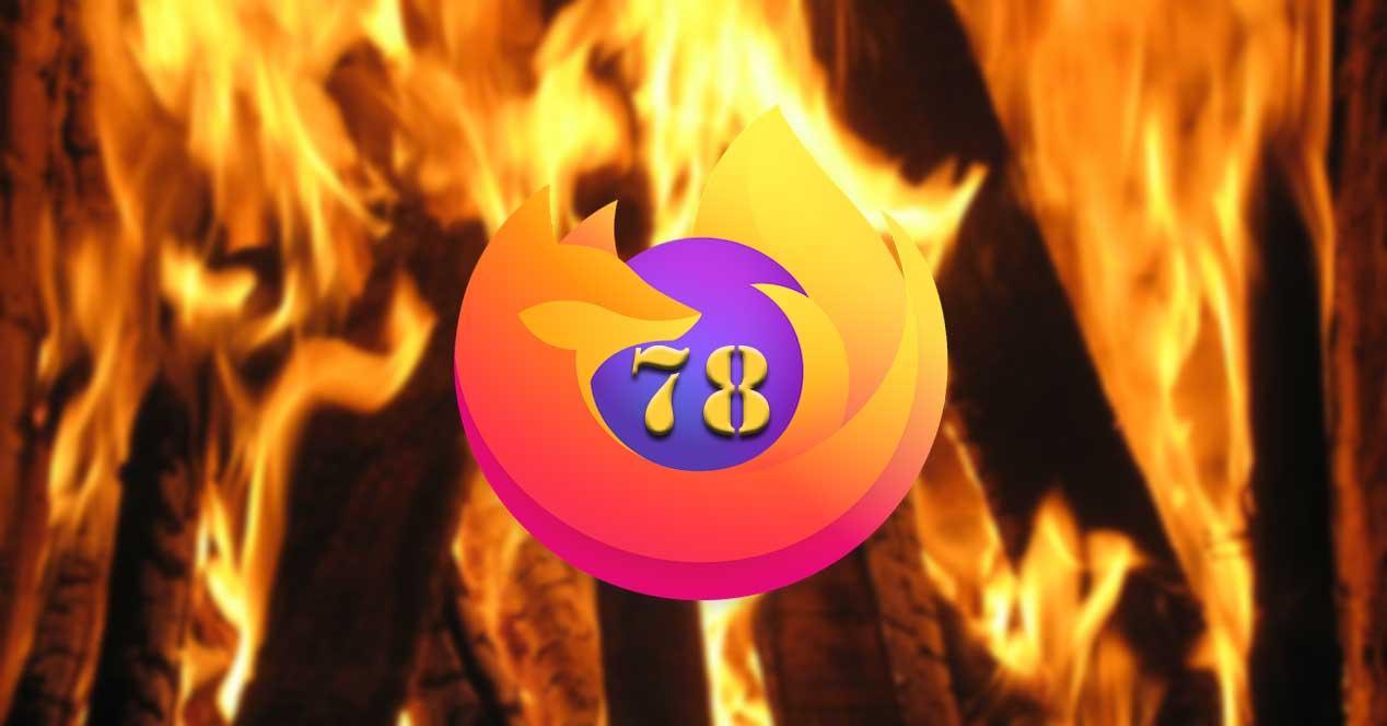 Firefox 78 fuego