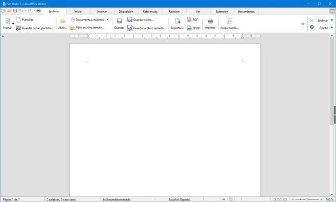 LibreOffice con aparienca de Office 1