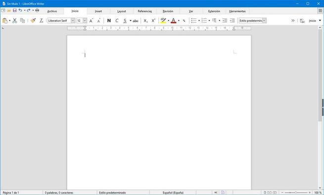 LibreOffice con aparienca de Office 2