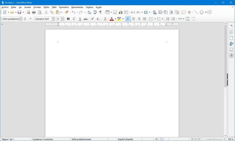 LibreOffice con iconos de Office
