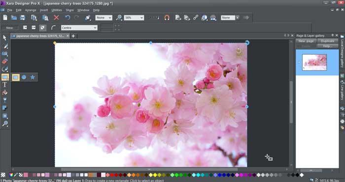 Xara Designer Pro X herramientas