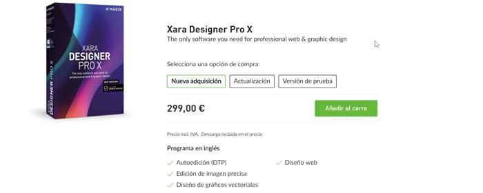 Xara Designer Pro X precio